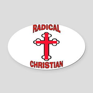 CHRISTIAN Oval Car Magnet