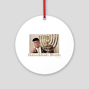 Hanukkah Bush Ornament (Round)