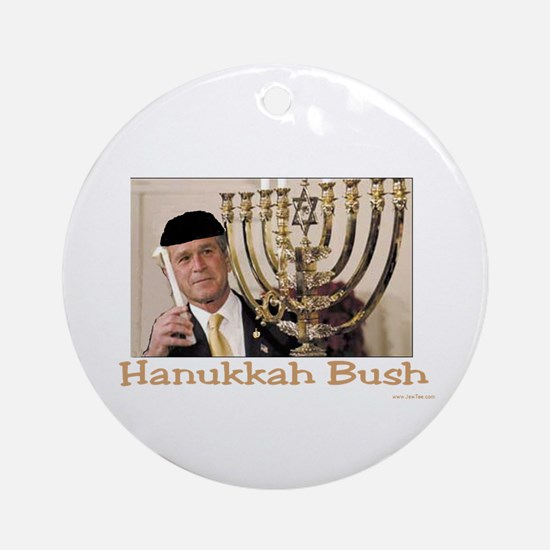 Hanukkah Bush Ornament (Round)