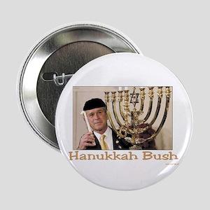 "Hanukkah Bush 2.25"" Button"