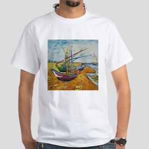 Van Gogh Boats at St Marie T-Shirt