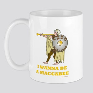 Wanna Be A Maccabee Hanukkah Mug