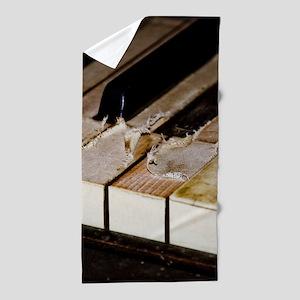 Vintage Piano Beach Towel