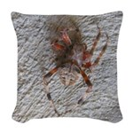 Crab Spider Home Woven Throw Pillow
