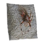 Crab Spider Home Burlap Throw Pillow