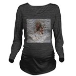 Crab Spider Home Long Sleeve Maternity T-Shirt