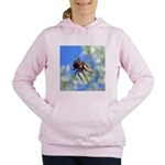 Red Thin Leg Wolf Spider on Web in blue Women's Ho