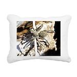 Furry Wolf Spider on Rocks Rectangular Canvas Pill