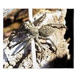 Furry Wolf Spider on Rocks King Duvet