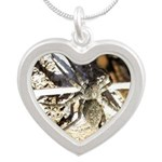 Furry Wolf Spider on Rocks Necklaces