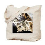 Furry Wolf Spider on Rocks Tote Bag