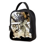 Furry Wolf Spider on Rocks Neoprene Lunch Bag