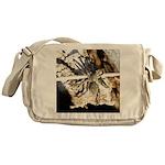 Furry Wolf Spider on Rocks Messenger Bag
