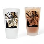 Furry Wolf Spider on Rocks Drinking Glass