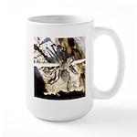 Furry Wolf Spider on Rocks Mugs