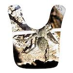 Furry Wolf Spider on Rocks Bib
