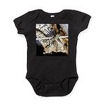 Furry Wolf Spider on Rocks Baby Bodysuit