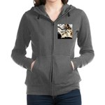 Furry Wolf Spider on Rocks Women's Zip Hoodie