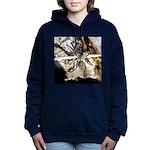 Furry Wolf Spider on Rocks Women's Hooded Sweatshi