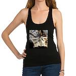 Furry Wolf Spider on Rocks Racerback Tank Top