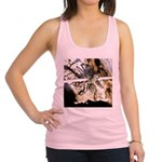 Furry Wolf Spider on Rocks Racerback Tank Top