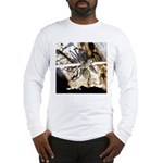 Furry Wolf Spider on Rocks Long Sleeve T-Shirt