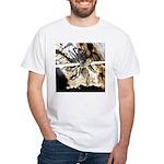 Furry Wolf Spider on Rocks T-Shirt