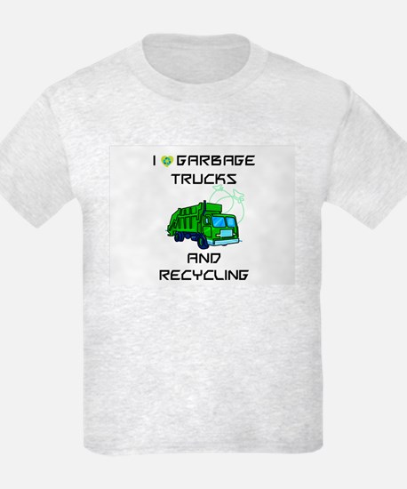 I Love Garbage Trucks And Recycling T-Shirt