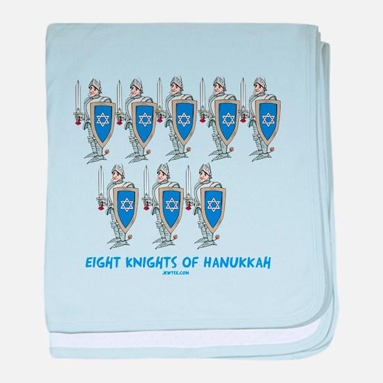 8 Knights Of Hanukkah baby blanket