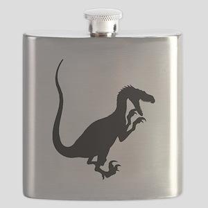 Velociraptor Silhouette Flask
