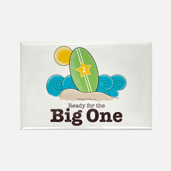 Ready For The Big One Beach Surf Rectangle Magnet