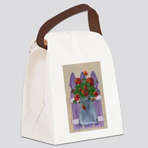 Flower Fence Canvas Lunch Bag