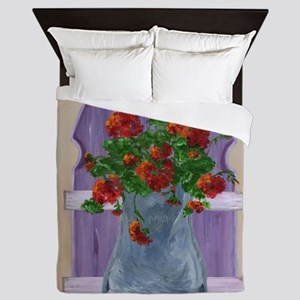 Flower Fence Queen Duvet