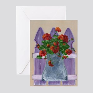 Flower Fence Greeting Cards