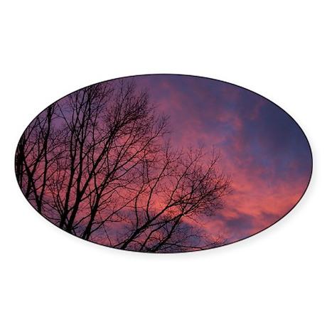 Skies on Fire Oval Sticker