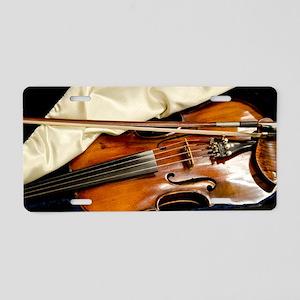 Vintage Violin Aluminum License Plate