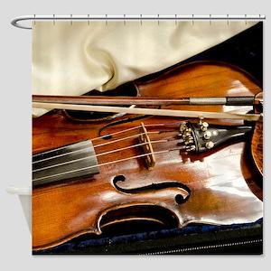 Vintage Violin Shower Curtain