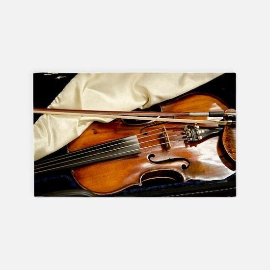 Vintage Violin Area Rug