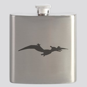 Pterodactyl Silhouette Flask
