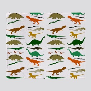 Dinosauria Throw Blanket