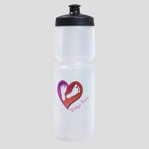 Heart & Baby Footprints Sports Bottle