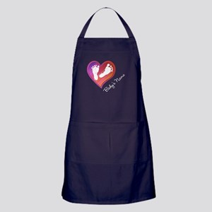 Heart & Baby Footprints Apron (dark)