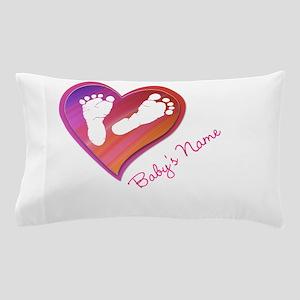 Heart & Baby Footprints Pillow Case