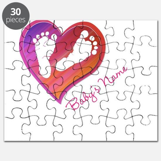Heart & Baby Footprints Puzzle