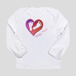 Heart & Baby Footprints Long Sleeve Infant T-Shirt