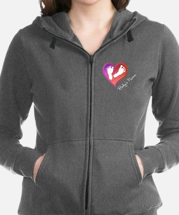 Heart & Baby Footprints Women's Zip Hoodie