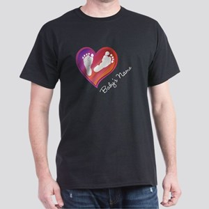 Heart & Baby Footprints Dark T-Shirt