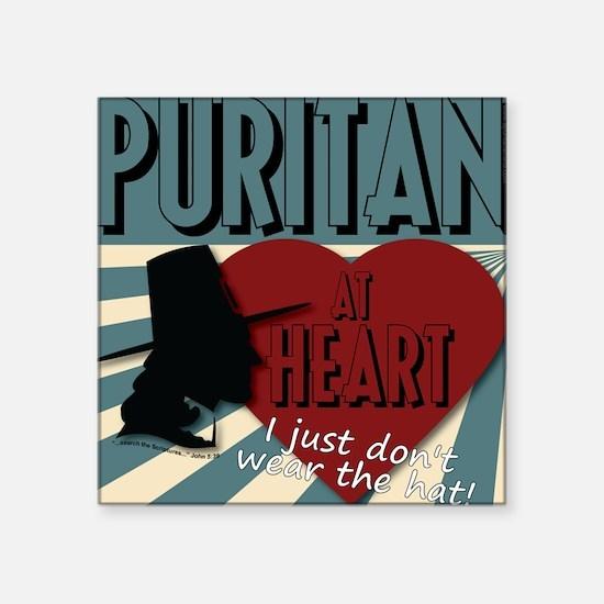 A Puritan at Heart Sticker
