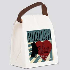 A Puritan at Heart Canvas Lunch Bag