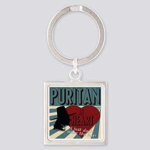 A Puritan At Heart Keychains